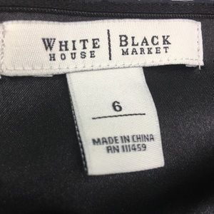 White House Black Market Dresses - WHBM Black Strapless Cocktail Dress